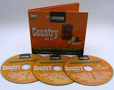 More details for zoom karaoke cd+g - classic country superhits - triple cd+g karaoke disc pack