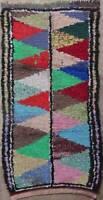 TAPIS BERBERE boucherouite boucharouette moroccan berber rug  T42029
