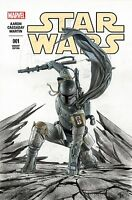 STAR WARS 1 FORBIDDEN PLANET 3rd PRINT 2nd COLOR SKETCH HYBRID BOBA FETT VARIANT