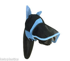 FULL BLUE FLY MASK VEIL FOR HORSES / HORSE  - SIZE XS (EXTRA SMALL)