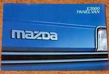 1984 MAZDA E2000 PANEL VAN Sales Brochure