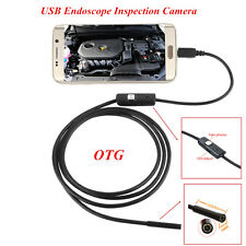 OTG 7mm USB Endoscope Inspection Camera Waterproof 6 LED Android For Car Engine