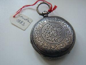 Silberne Taschenuhr - Sprungdeckeluhr um 1900
