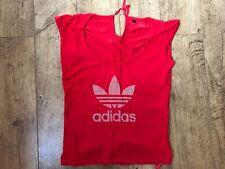 Women's red Adidas originals tie neck t-shirt UK 8