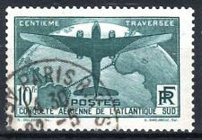 "FRANCE STAMP TIMBRE 321 "" TRAVERSEE ATLANTIQUE SUD 10F VERT "" OBLITERE TTB M821"