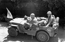 WWII Photo US Army Medics Jeep Rome Italy World War Two WW2 B&W / 3086