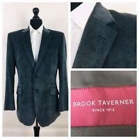 Brook Taverner Mens Jacket Blazer Chest 42 Blue / Grey Soft Touch  YE509