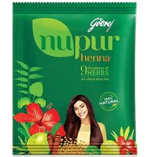 Godrej Nupur Henna - Natural Henna with 9 Herbs for Hair Color 50gram / 1.76oz