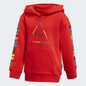 New Adidasx Pharrell Williams Boys Youth Athletic Running Pullover Hoodie M
