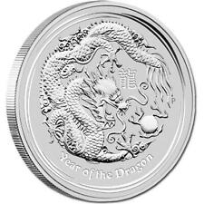 2012 Perth Mint Silver Lunar Series II Year of the Dragon 1 oz Coin | Tube of 20