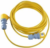 10m 16 AMP to 16 AMP 110V Yellow Extension Lead 1.5mm Building Site Lighting