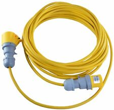 25m 16 AMP to 16 AMP 110V Yellow Extension Lead 1.5mm Building Site Lighting