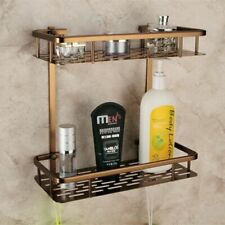 Aluminum Metal Storage Rack Europe Antique Shelves Double Layer  Bathroom Towel