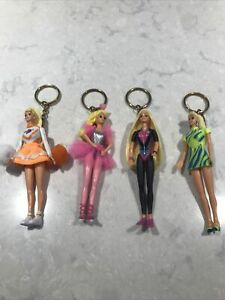 Vintage 1995 Mattel Barbie Doll Keychain Set of 4