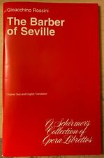 The Barber of Seville Libretto
