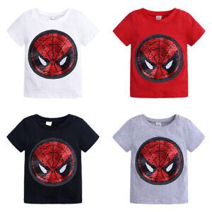 Kids T-Shirt Magic Sequins Flip Tee Change Pattern Fashion Summer Boy Girl Top