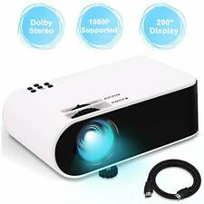 WayGoal Portable Projector, Stereo Sound and Full HD 1080P Support, 4800 Lumens