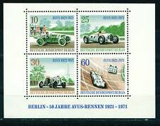 Germany AVUS Berlin Mercedes Car Race Souvenir Sheet 1971 MNH