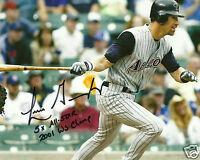 Luis Gonzalez Signed Arizona Diamondbacks 8x10 Photo - COA - 2001 WS Inscription