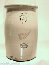 Rare Red Wing Stoneware 5 Gallon Butter Churn Crock w/ dasher SUPER NICE PIECE