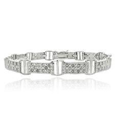1ct Diamond Bar Link Bracelet