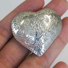 Heart Pendant Pure Silver Handmade Karen Hilltribe