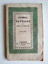"LIBRO ANTICO BROSSURE DECORATA ACQUERELLATA ""STORIA NATURALE"" 1834"
