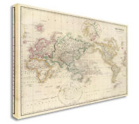 Ikea premiar world map canvas ebay world map map of world antique vintage style canvas picture large any size g gumiabroncs Gallery