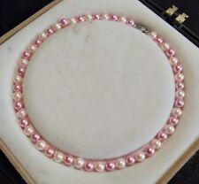 "Pretty 8mm Multicolor South Sea Shell Pearl Necklace 18"" AAA+ j03v"