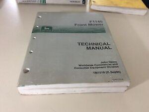 John Deere F1145 Front Mower Technical Service Manual TM1519 9/96