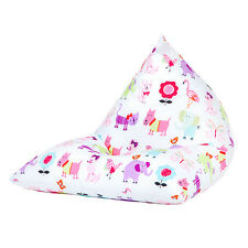Cute Pets Large Children's Kids Pyramid Bean Bag Chair Gaming Beanbag Gamer