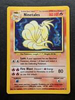 12/102 | Ninetales HOLO | WOTC Base Set | Pokemon Card | Good