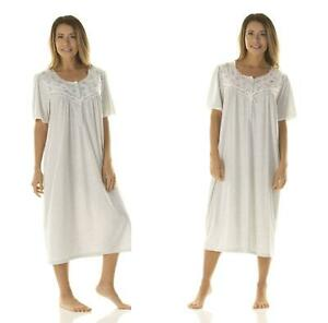 Women's Ladies Short Sleeve Nightdress Jersey Fabric Standard Length La marquise