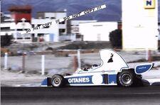 9x6 Photograph Jean Pierre Beltoise  Ligier Matra JS5  Pre-Season Test  1976