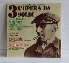 L'OPERA DA TRE SOLDI Bertold Brecht e Kurt Weill Album vinile 33 giri SIGILLATO