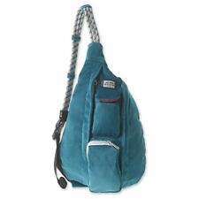 KAVU Corduroy Mini Rope Bag Crossbody Sling Arctic Teal Durable
