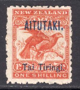 AITUTAKI 1903-11 surcharge 1s orange-red M, SG 7b cat £70