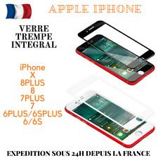 iPhone X/8/+/7/6/S Vitre Verre Trempe 3D Film Protection Ecran 100% Intégral
