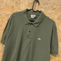 Lacoste Mens Short Sleeve Polo Shirt Size 6 / L LARGE - Olive Green (Defects)