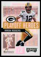 2018 PLAYOFF HEROES AARON RODGERS GREEN BAY PACKERS #10 INSERT