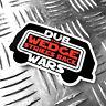 DUB WARS the wedge strikes back car sticker 95mm x 60mm oilcan star wars decal