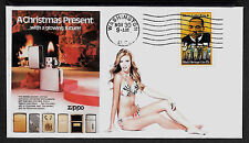 1983 Zippo Lighter & Pin Up Girl Featured on Xmas Collector's Envelope *A288