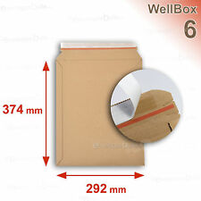 EnveloppeBulle WellBox 6 Jeu de 100 Enveloppes Beiges en Carton 292 x 374 mm