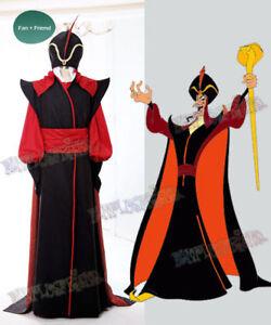 New Aladdin Cosplay Jafar Halloween Uniform Outfit cosplay Costume custom made