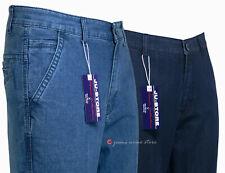 Jeans uomo pantalone cotone vita alta tessuto elasticizzato tg 62 64 66 68 70 72