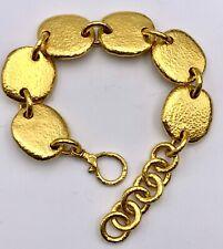 Vintage Gurhan 24k Yellow Heavy Link Bracelet
