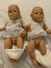 Anatomically correct baby boy and girl twin doll lot of 2