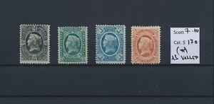 LO45005 Guatemala 1875 definitives Liberty fine lot MNG cv 170 EUR