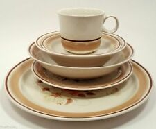 WATER COLORS HEARTHSIDE BLUSH STONEWARE 5 PIECE PLACE SETTING (s) HAND DECORATED