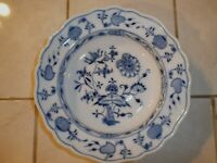 Meissen BLUE ONION Carl Teichert Rimmed Soup Bowl 9 inch